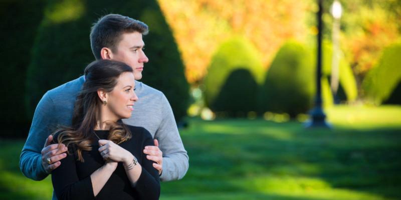 Engagement pictures at Boston public garden