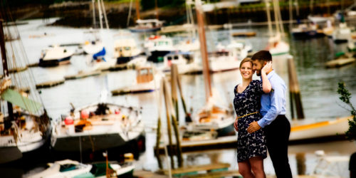 Engagment Pictures at Camden Harbor