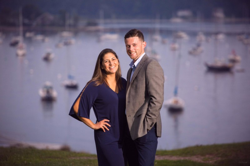 Pepperrel cove at Kittery maine engagement photoshoot