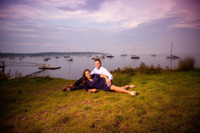 engagment picture at Kittery maine