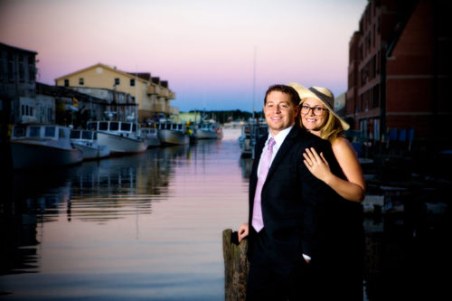 Liz and David's Engagement Pictures in Portland's Old Port