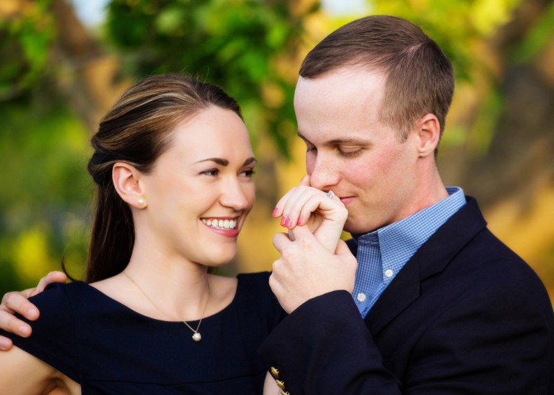 engagement portrait of couple