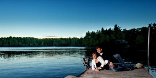 engagement pictures at Sebago Lake