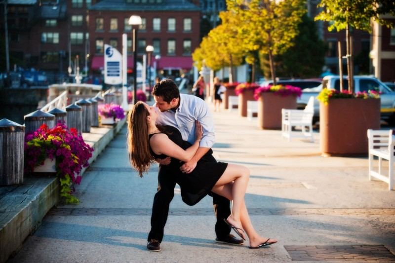 Portland, Maine engagement photoshoot