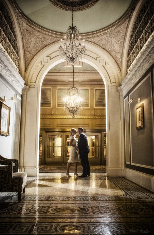 the copley hotel in boston for engagement shoot