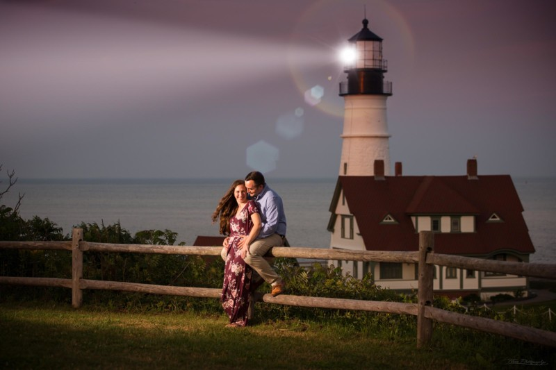 Fort Williams engagement photo shoot