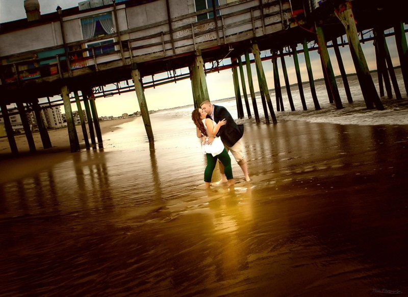 old orchard beach engagement photo