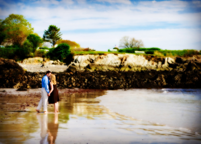 kennebunkport beach engagement photoshoot