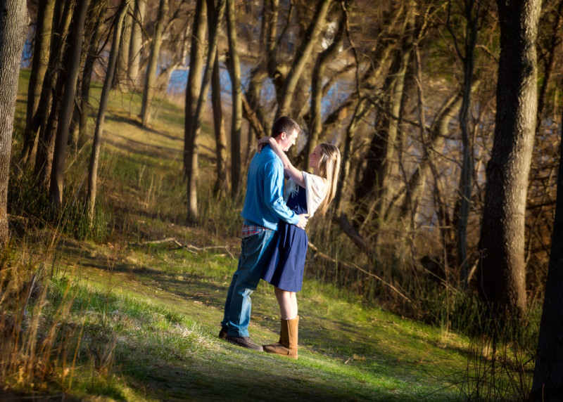 engagement pictures at gilsland farm - audobon center