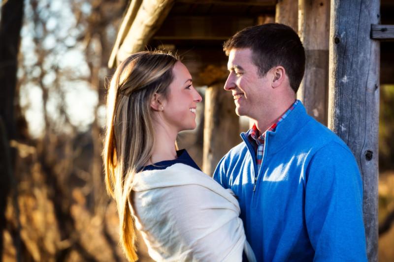 engagement pictures at gilsland farm - audobon center