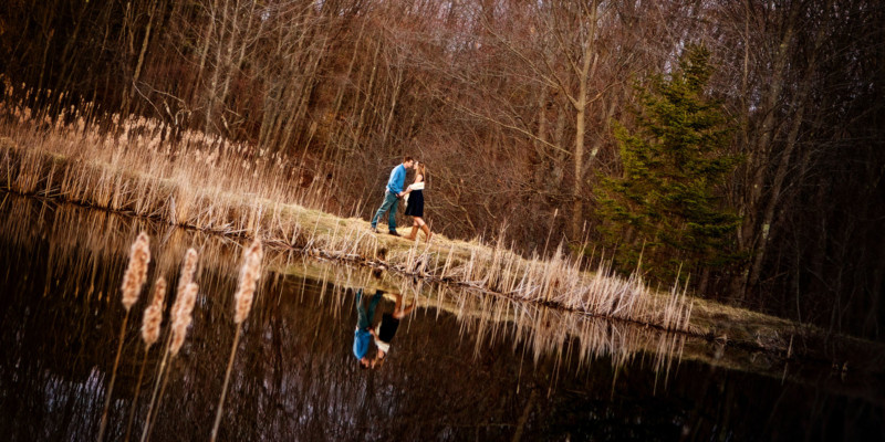 engagement photos in Maine at gilsland farm - audobon center