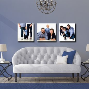 family portraits hanging on walls in decor friendly design
