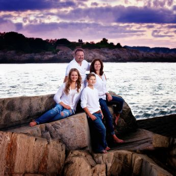 family portraits in maine for vacations