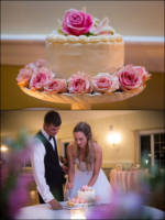 Cake and cutting pictures from Dunegrass wedding