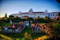 Wedding Ceremony on Back Lawn