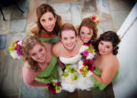 Bride and Maids from above