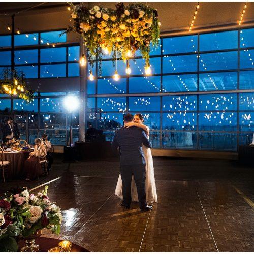 Last dance at wedding in Portland, ME at Ocean Gateway