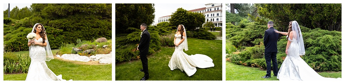 Wentworth by the sea wedding photography, First Look of bride and groom