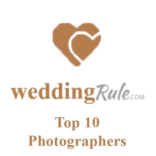 Top 10 photographers list on Wedding Rule