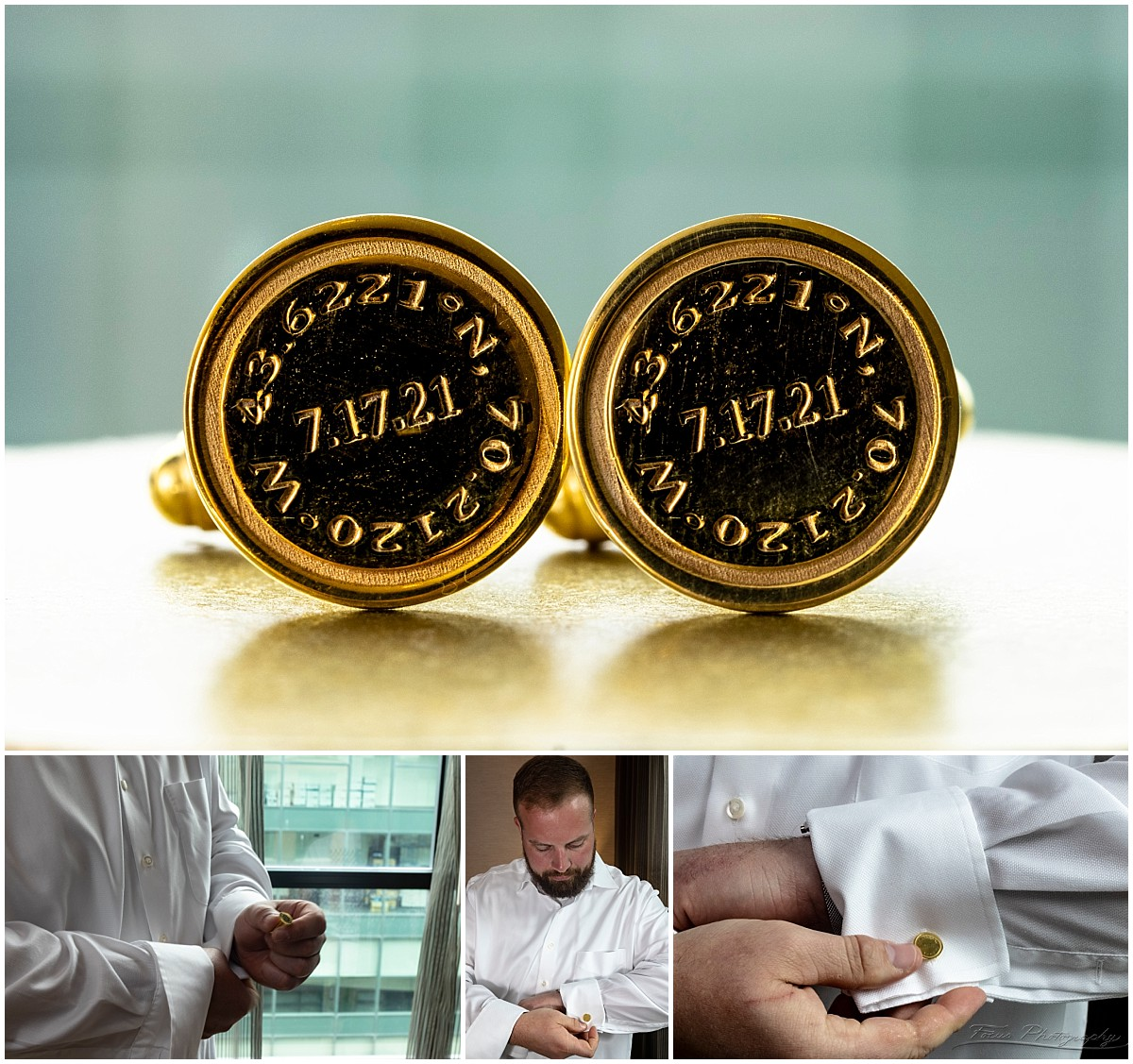 Sarah had these cuff links made for Craig  - super cool!