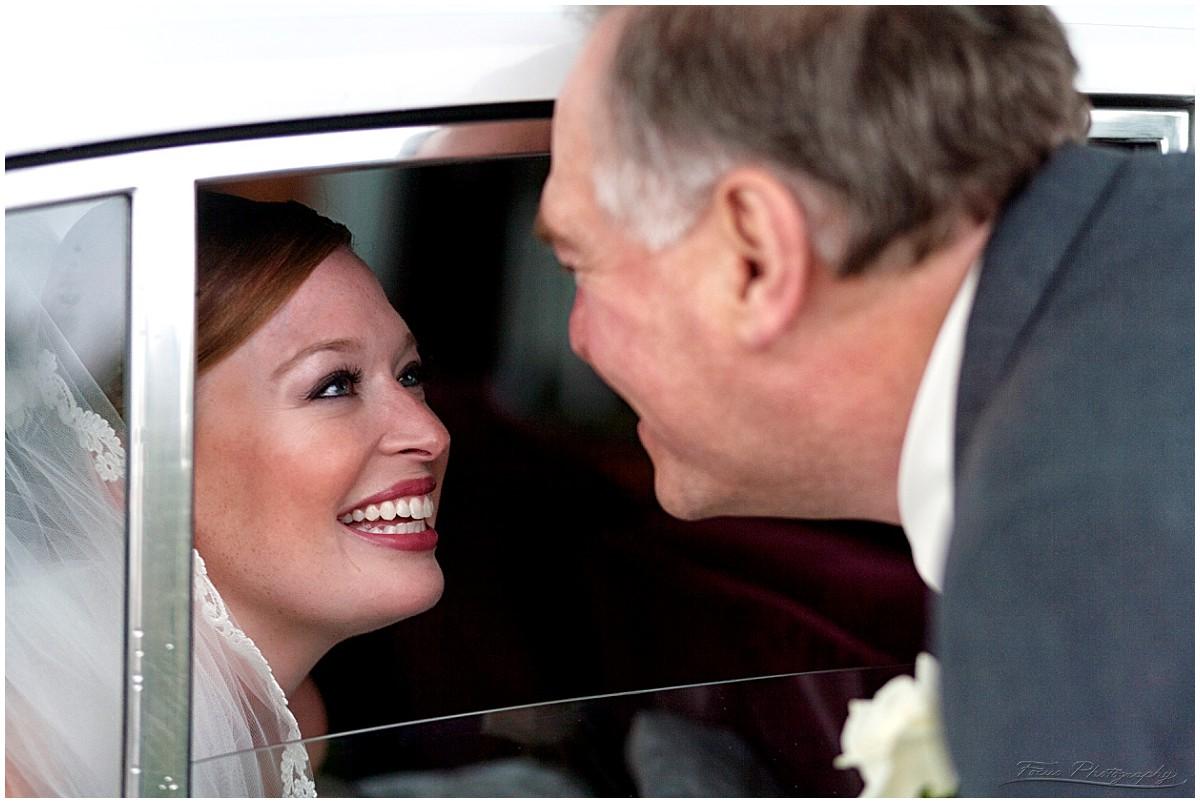 wedding bride father limo