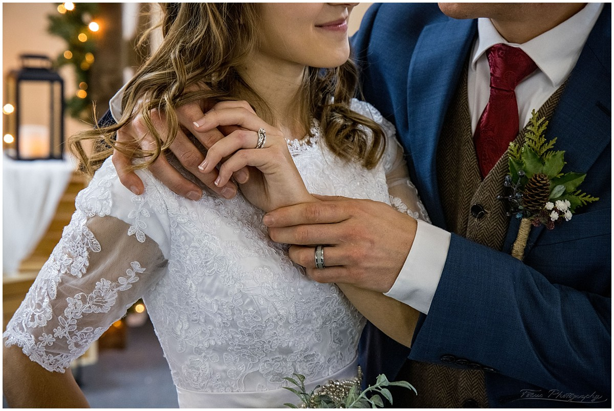 wedding bands - rings on fingers