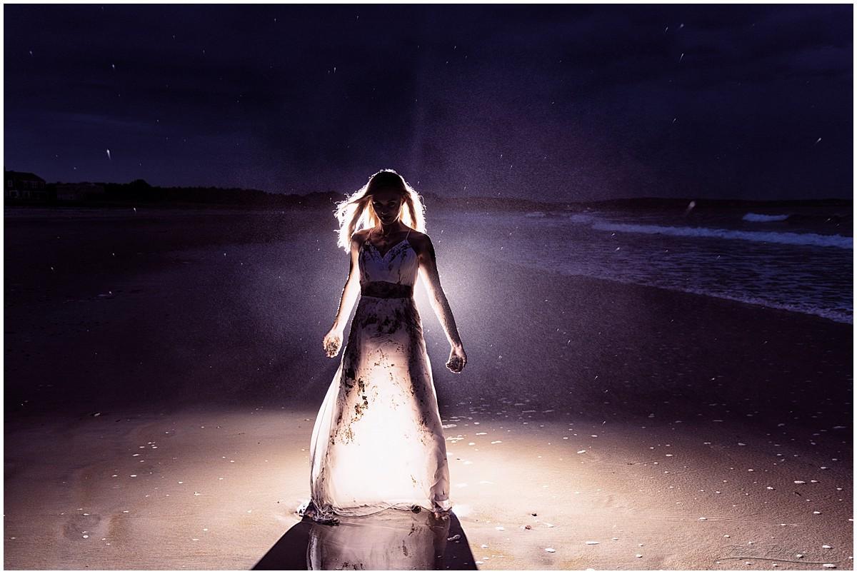 Trash the Dress - wedding dress at the beach