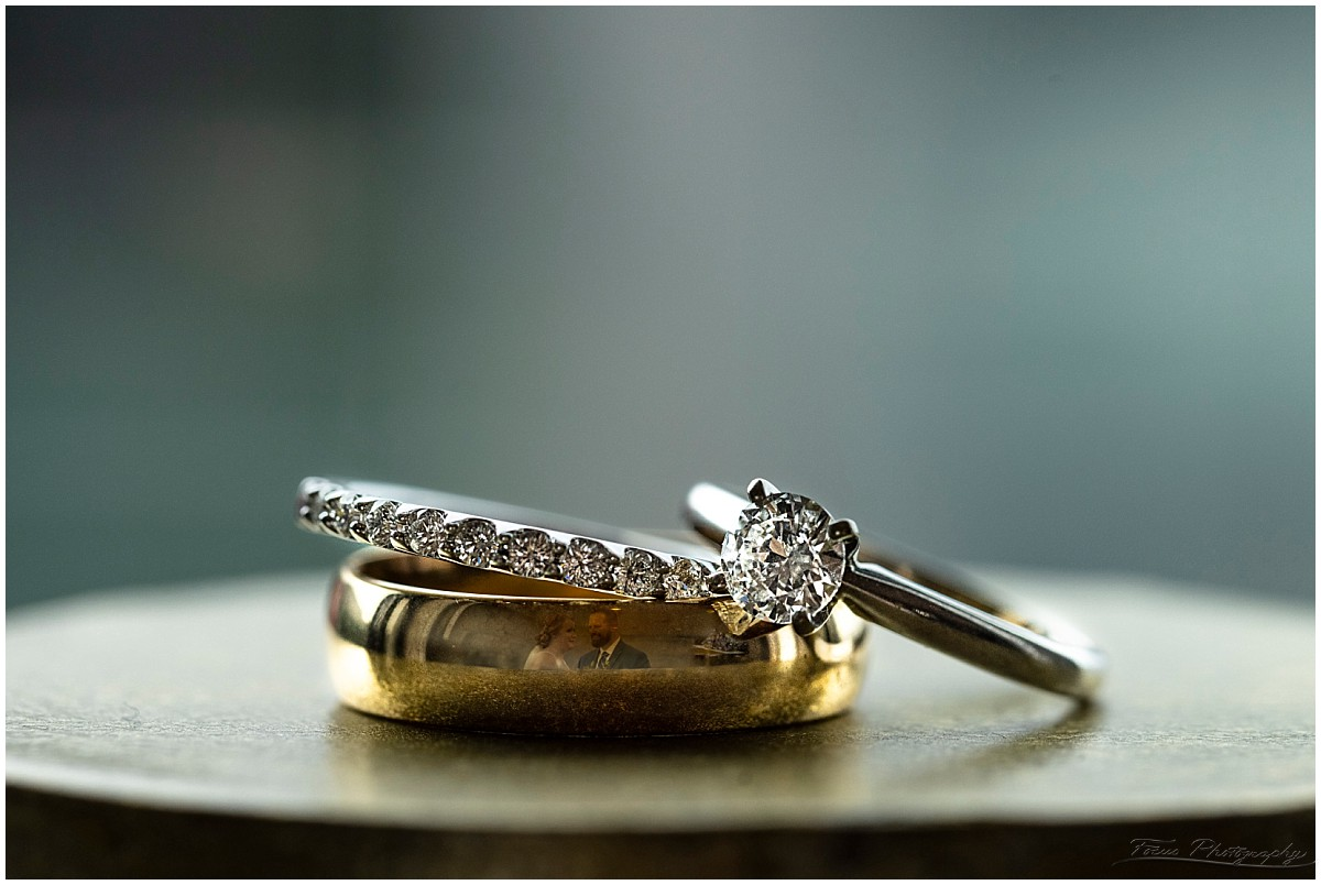 wedding bands with bride and groom in them