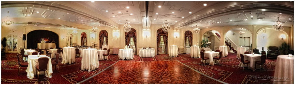 This is the Wentworth Grand Ballroom set up cocktail-style!