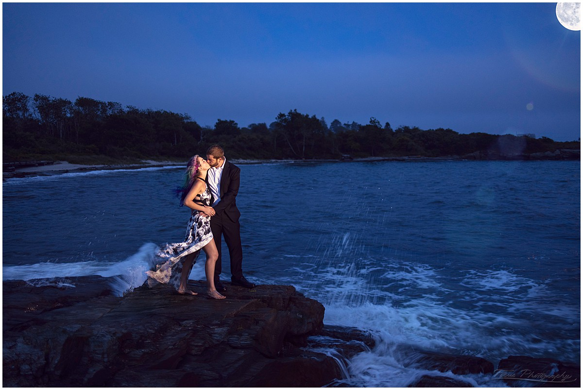 engagement pictures at the beach in maine