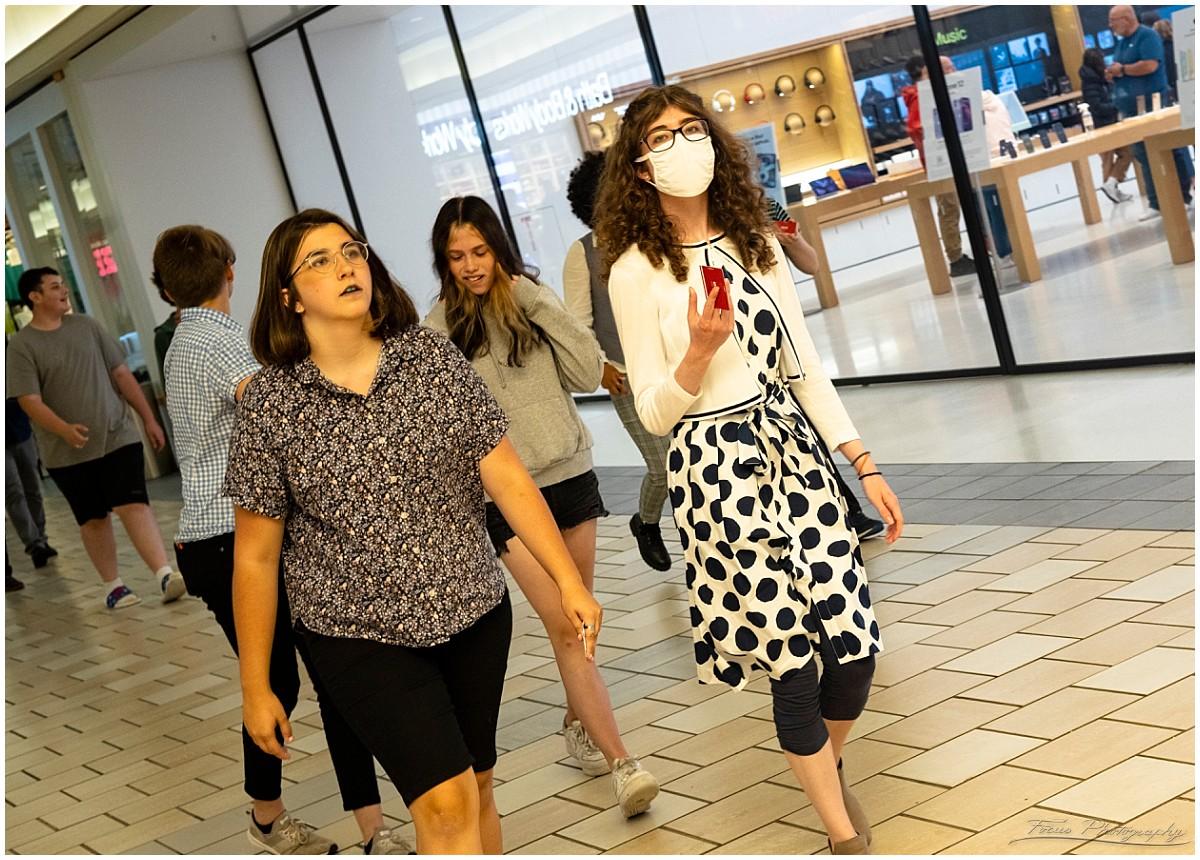 walking through the maine mall