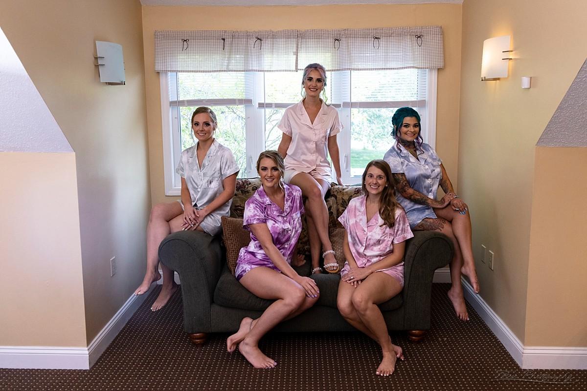 The bridesmaids' pajama party