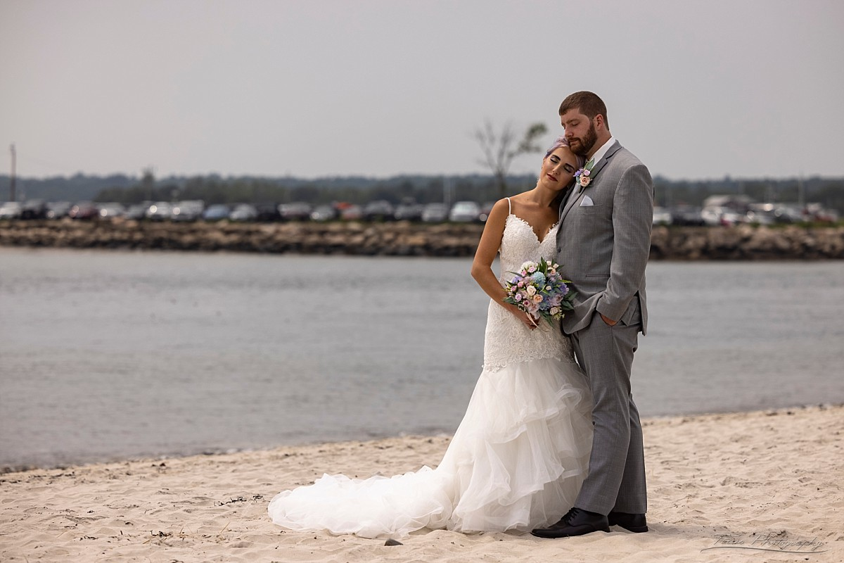 Wedding pictures at Drake's Island