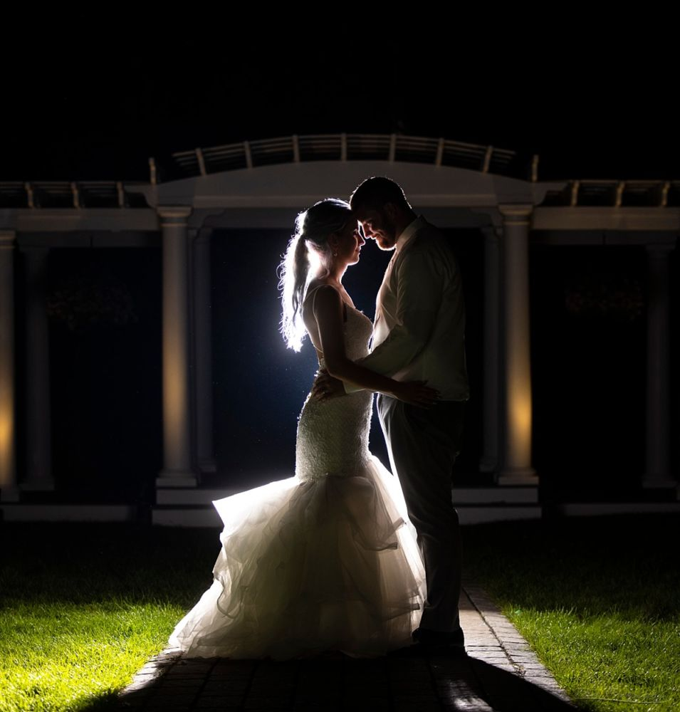 bride and groom at end of night