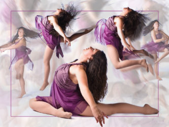 dance poster photographed in senior picture photography studio