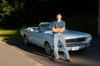 cheverus high school senior photographed with his car