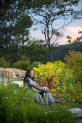 portland girl photographed for senior pictures in fort williams park