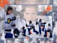 sports poster of field hockey player taken in senior portrait photography studio in maine