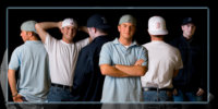 poster of boy with baseball hat collection for senior photo shoot
