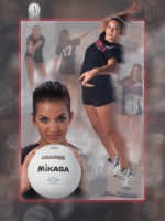 volley ball poster in studio