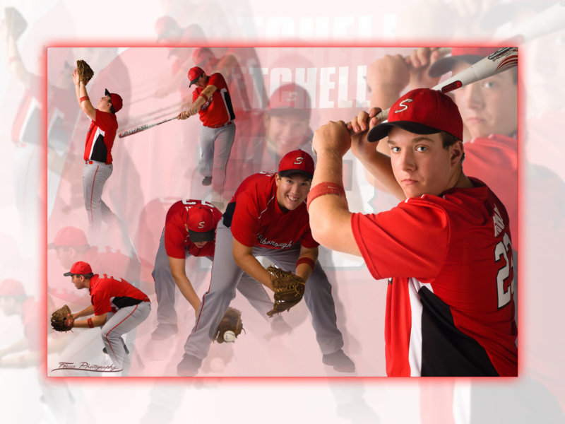 baseballl poster of boy in senior photo shoot