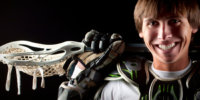 lacrosse stick and pads senior sports picture
