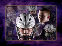 sports poster of cheverus student and lacrosse uniform