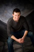 senior boy photographed in maine photography studio