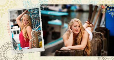 Portland's waterfront is the location for these senior portraits