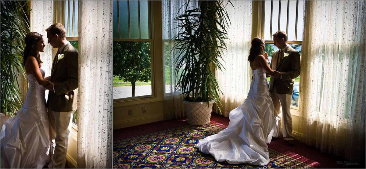 Wentworth by the Sea Wedding Photos of couple in hotel