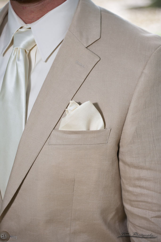 Close up of Grooms Suit Detail