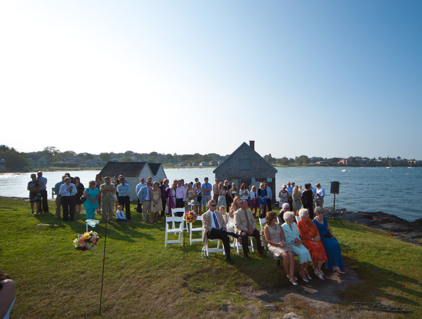 Wedding at Fisherman huts Maine