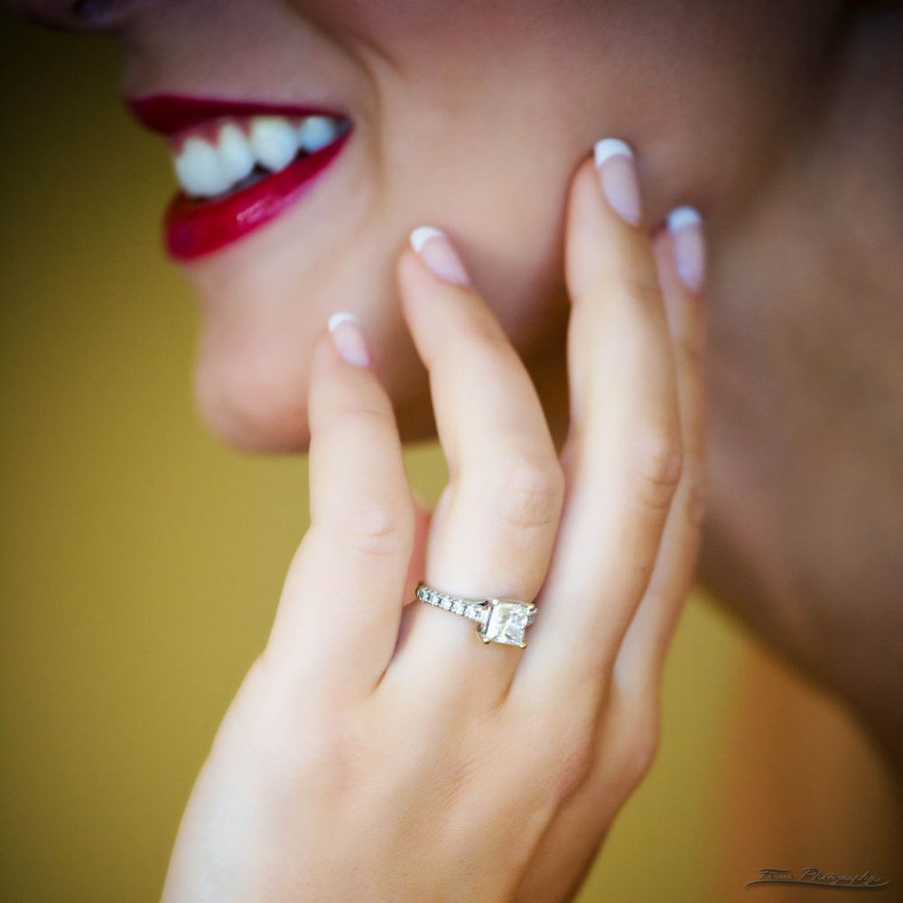 lipstick and solitaire ring at Samoset Resort Wedding in Rockport, Maine