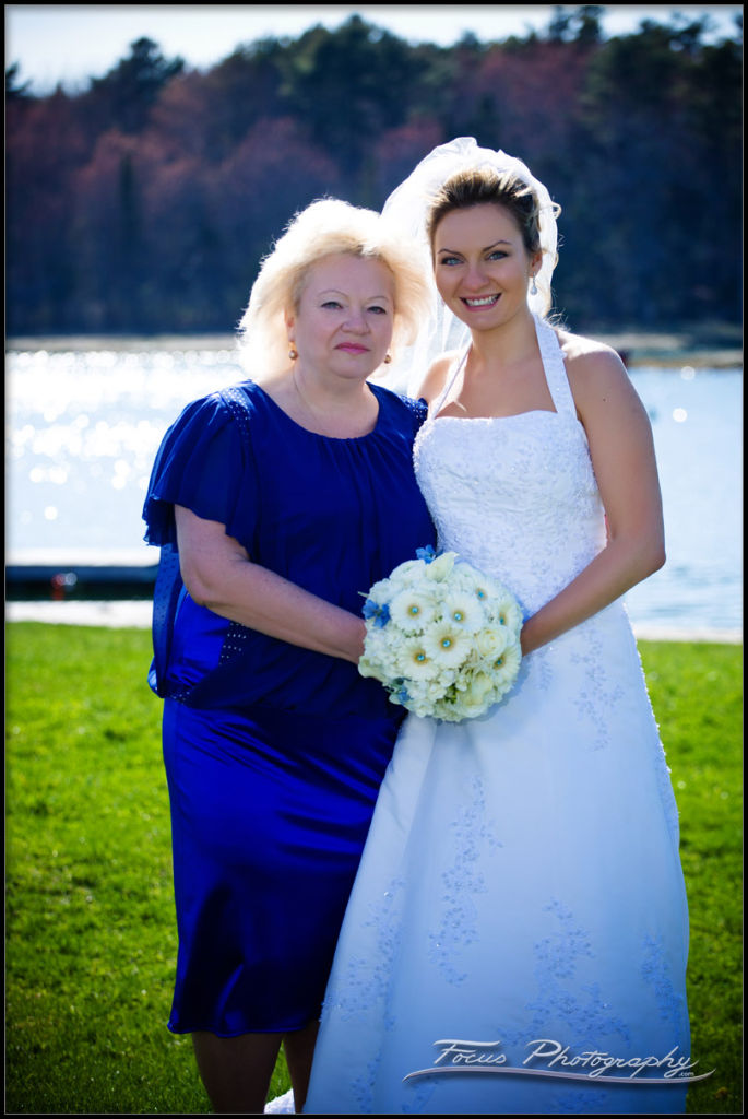 bride and her mother - by maine wedding photographer Focus Photography